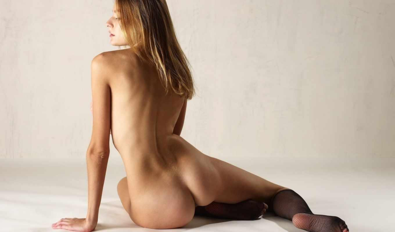 голая, art model, заседание, нога, длинные волосы, модель, бедро, человеческая нога, спина, голый, эротика, backfisch, human sexual activity