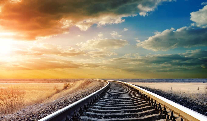 rail, postcard, небо, вдаль, дорогой, закат, под, company, бежать, amazing, дима