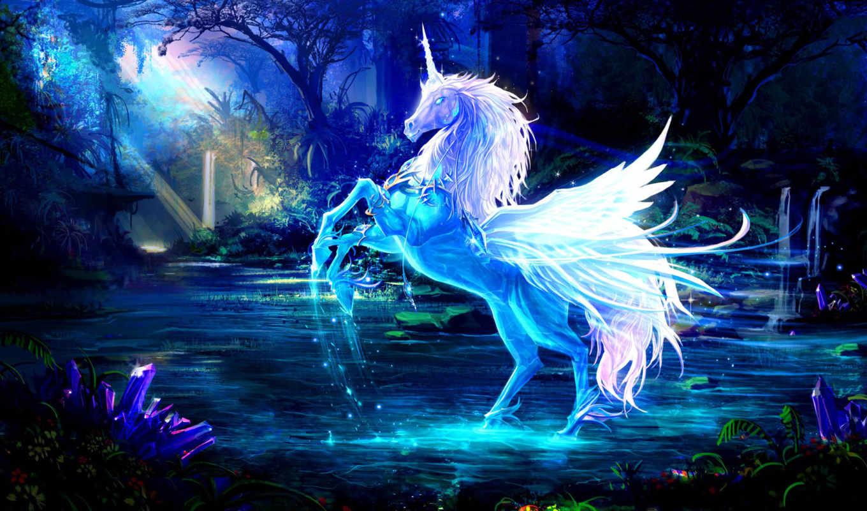 crystal, unicorn, sparkling, fantasy, art, download,