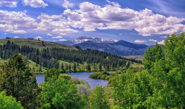 озеро, ozero, пейзаж, долина, горы, washington, долина,