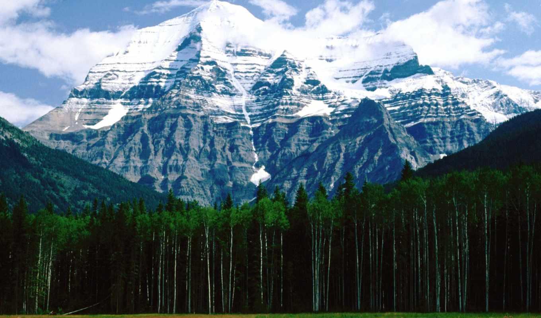 пейзажи -, канада, канады, города, горы, чудесные, заснеженный, страны, peak,