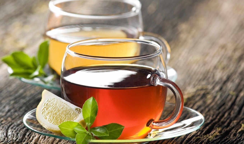 ,чай,лимон,чаша,мята,