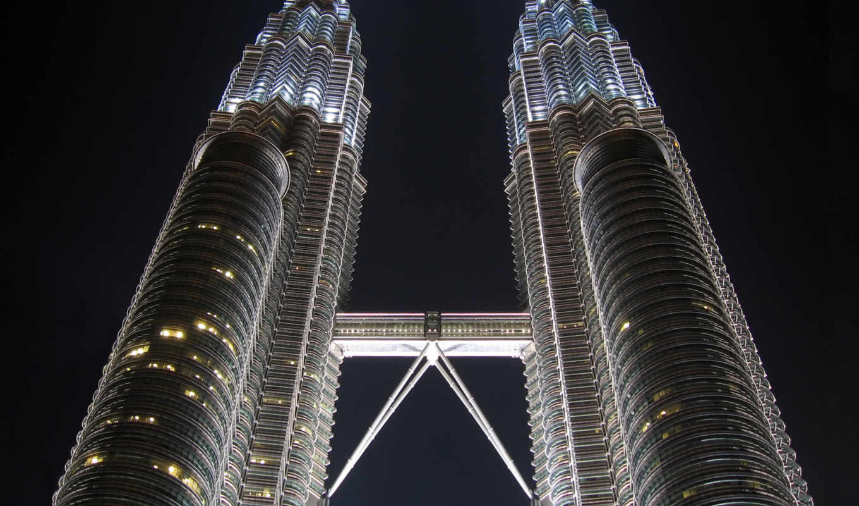 petronas, towers, twin, kuala, malaysia, lumpur,