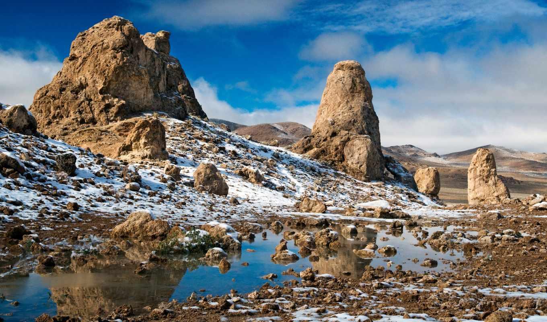 пустыня, winter, hills, скалистый, природа, landscape,
