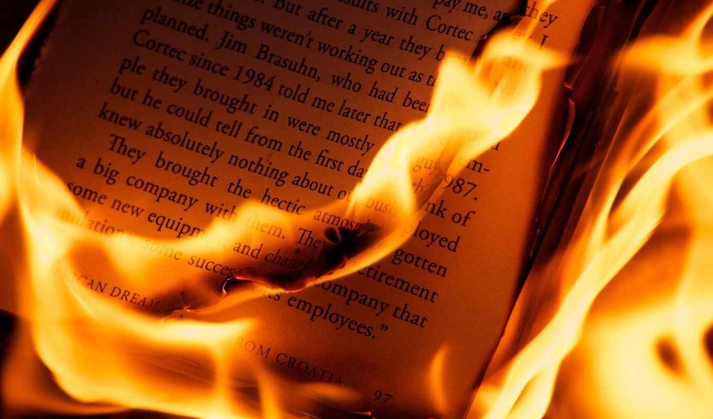 книга, огонь, страницы, пламя, макро, листы, буквы, разное, iphone,