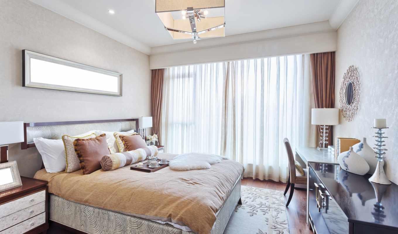 интерьер, спальня, сетлая, комната,