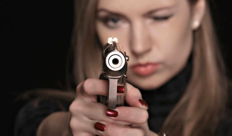девушка, пистолетом, категории,