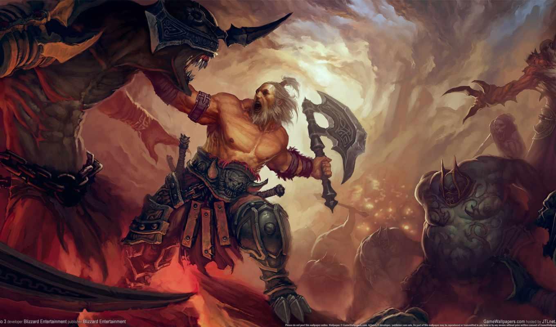 diablo, iii, эрадана, обзор, cuba, barbarian, часть, reading, многострадальны, druid, неба,