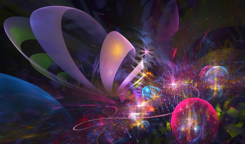 красивые, абстрактные, круги, абстракция, стильные, fractal, abstrakt, бесплатные,