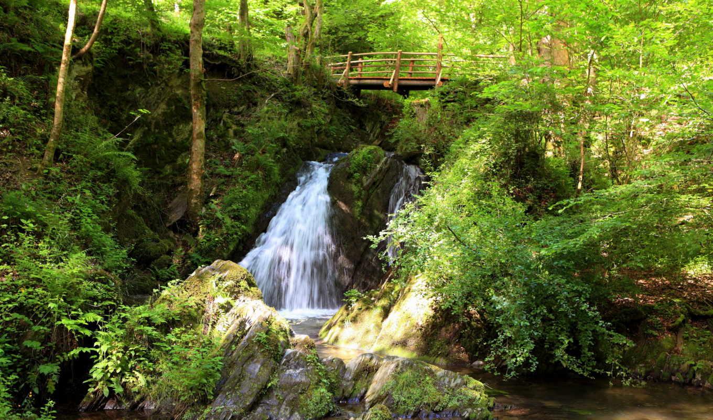 природа, музыка, отдыха, красивая, медленная, душі, водопад,