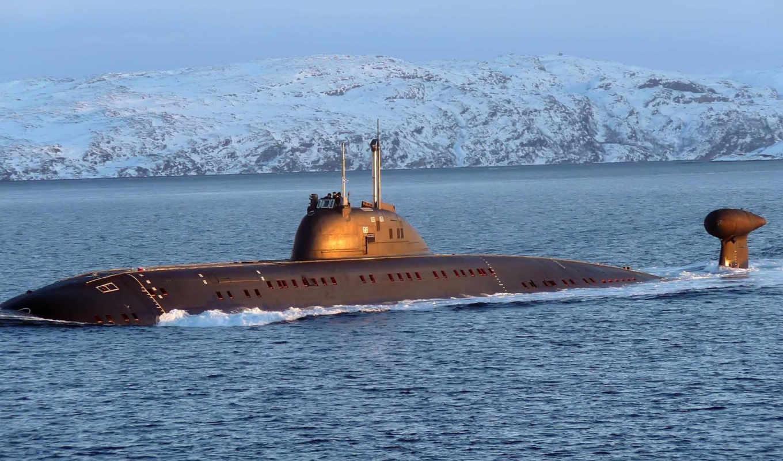 submarine, флот, снежные, дали, подводная, лодка, black, water, океане, ice,