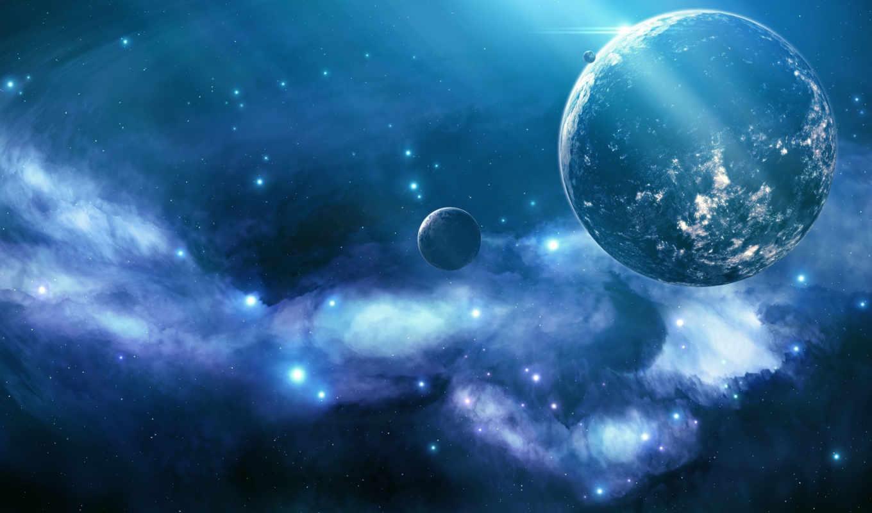 blue, космос, сияние, туманность, планеты, звезды, galaxy, desktop, картинка, planet, planets, high, unknown,