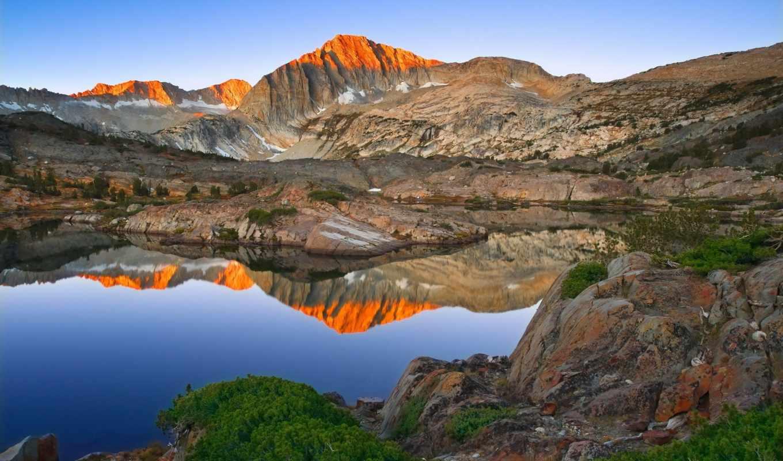 lakes, озеро, yosemite, california, sierra, trail, музыка, пейзажи -, взгляд,