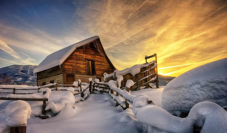 снег, winter, нояб, янв, природа, house, сквозь,
