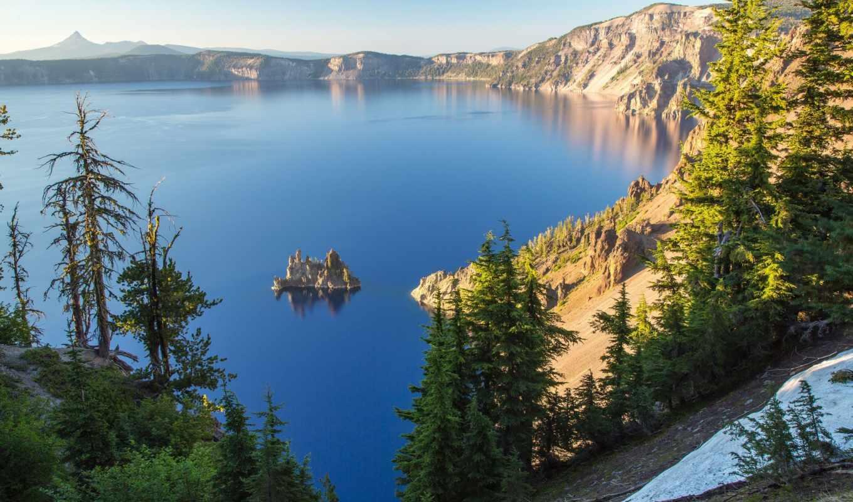 пейзажи, landscapes, pines, природа, oregon, море, острова, usa, озера, скалы,