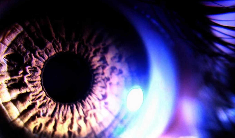 свет, глаз, абстрактные, глазах, сетчатки, смотрели, внутренняя, shell,
