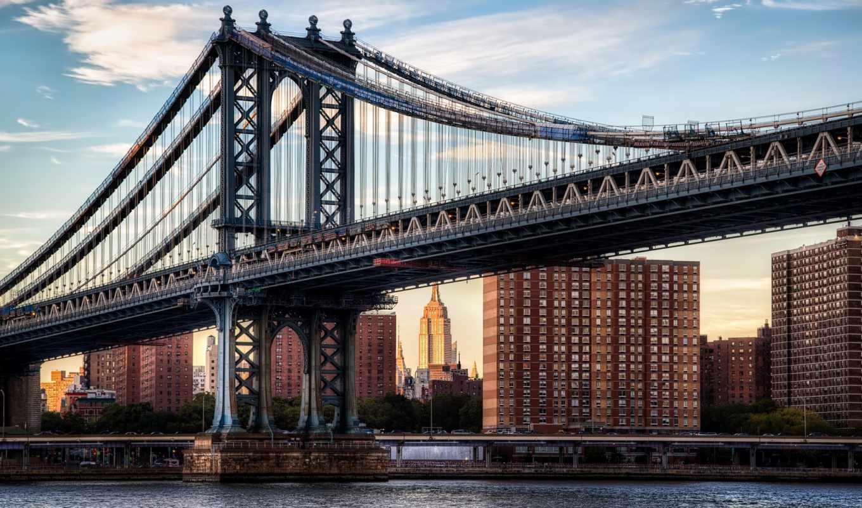 нью, город, manhattan, мост, река, reki, italian, york,