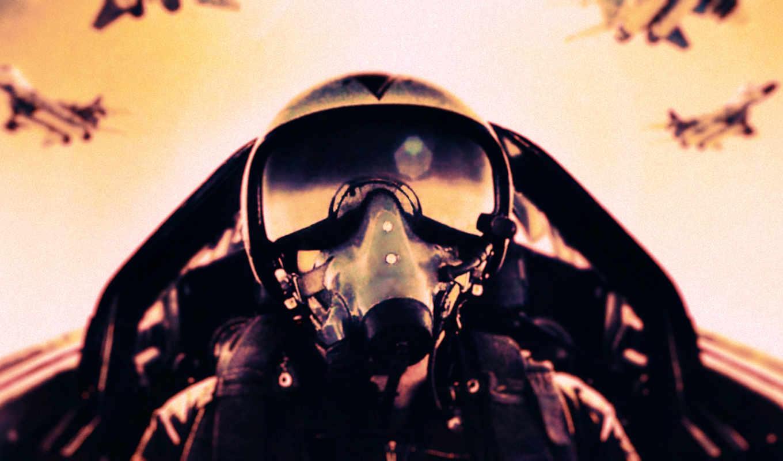 пилот, шлем, самолёт, истребитель, картинка,