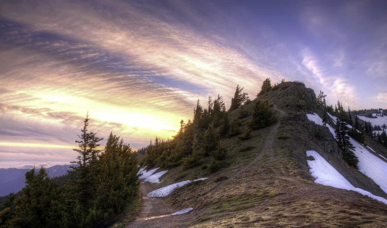 mountain, горы, природы, балла, прекрасными, уголками, снег, природа, деревья,