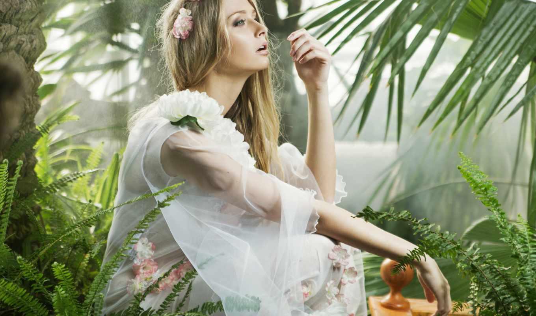 взгляд, девушка, profile, tapety, пл, kwiaty, zobacz,