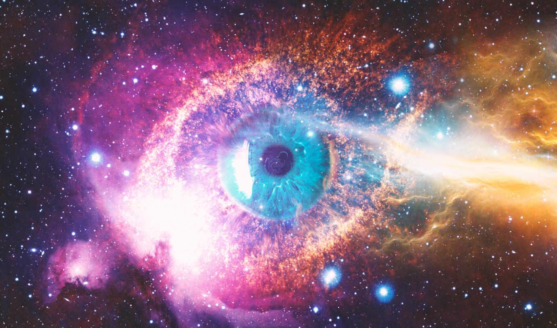 cosmic, космос, глаз, universe, galaxy,