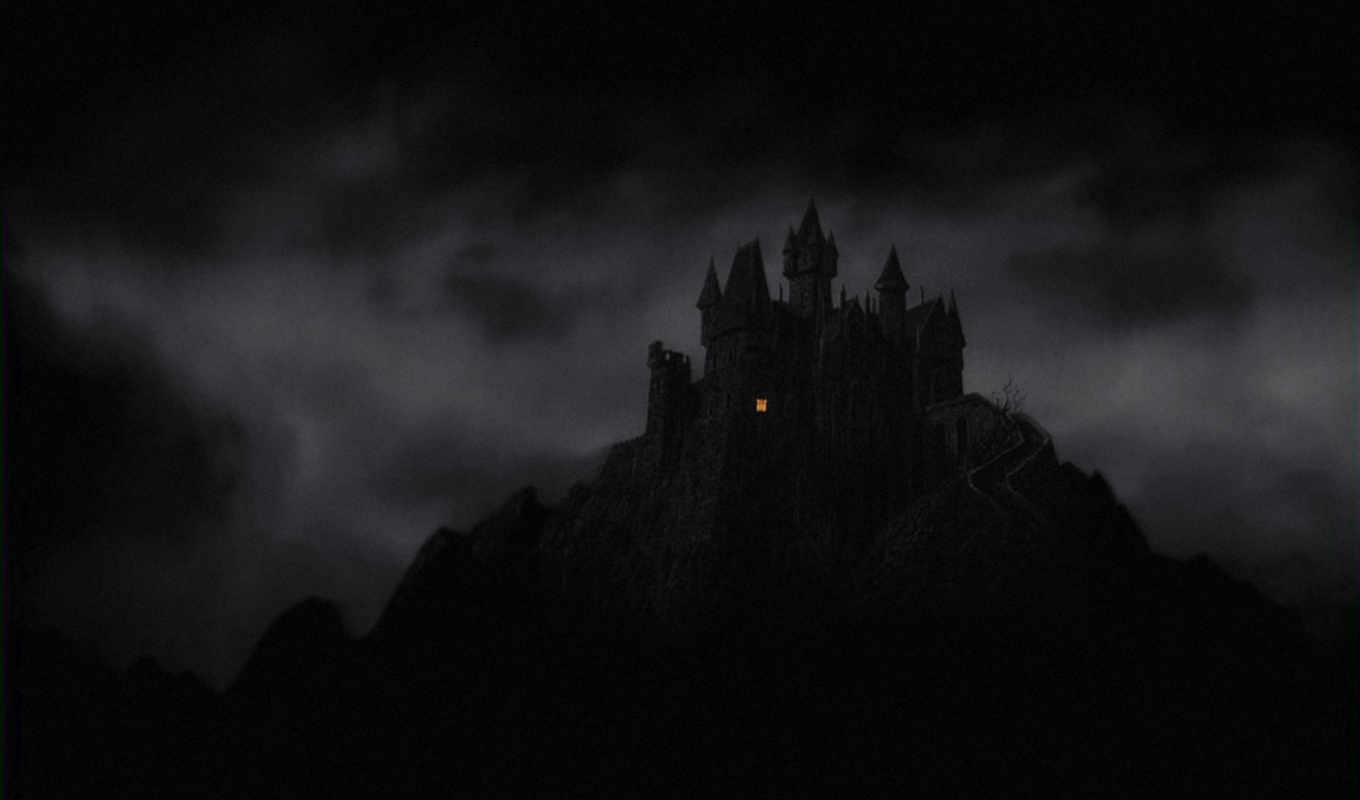 fantasy, dark, castle, mountains, ночь, категория, gothic, окно,