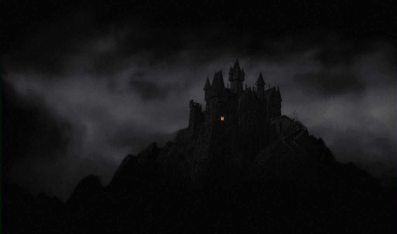 fantasy, dark, castle, mountains, ночь, категория, gothic, окно,