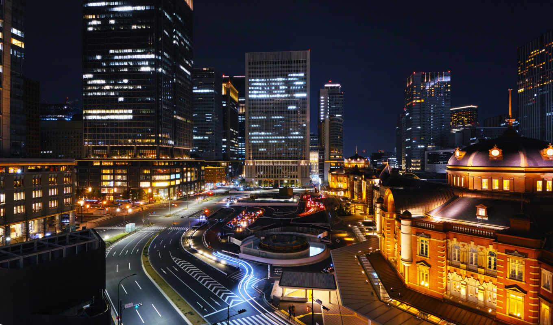город, ночь, япония, tokyo,