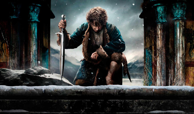 bilbo, baggins, hobbit, пять, битва, armies, ан,