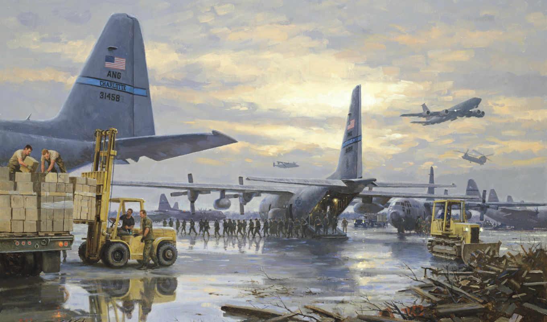 база, военная, нато, ящики, самолеты, солдаты, пог