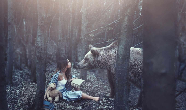 devushka, les, животное, узкий, хорошії, игрушка, загрузить, медведь, pinterest, мишка, nashelyi