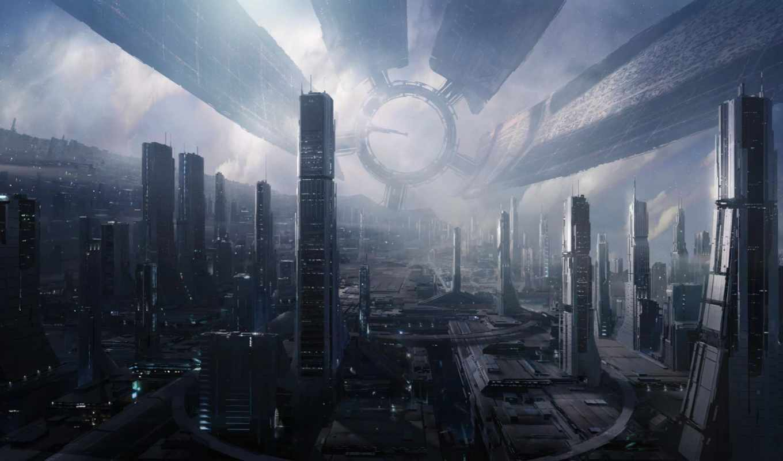 mass, effect, космос, город, games, фантастика, efect, картинка, homepage,