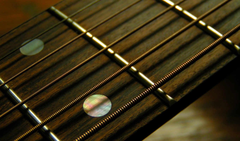 ,гитара, струны, гриф