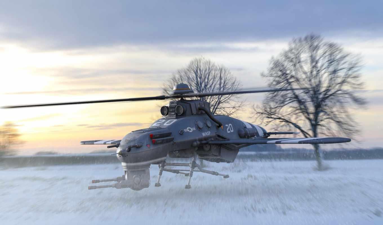 drone, invierno, авиация, техника, para, helicóptero, картинка, art, pantalla,