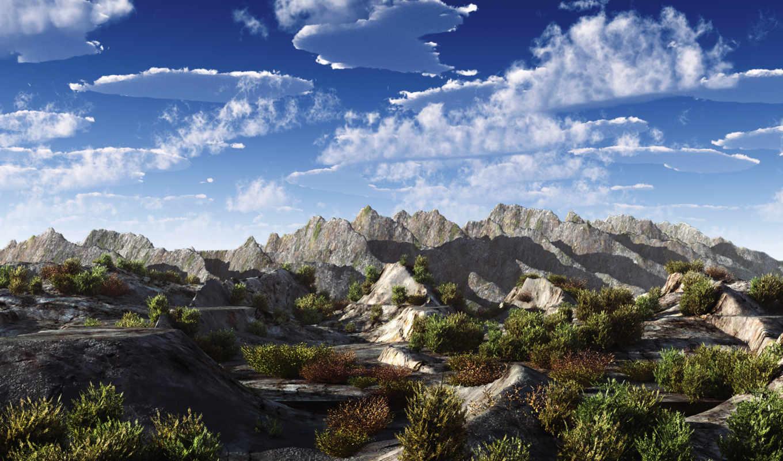 обои, горы, свой, wpapers, небо, осени, ru, фото,