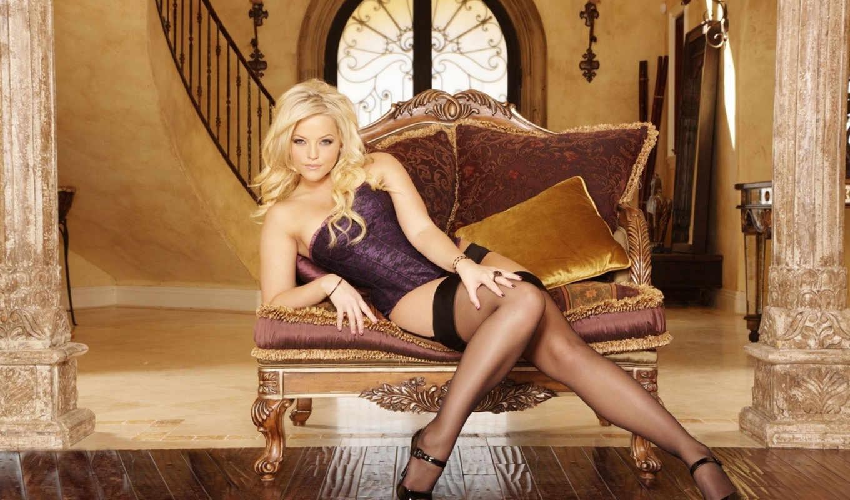 texas, alexis, блондинка, чулки, диванчик, декор, sexy, девушки, девушка,