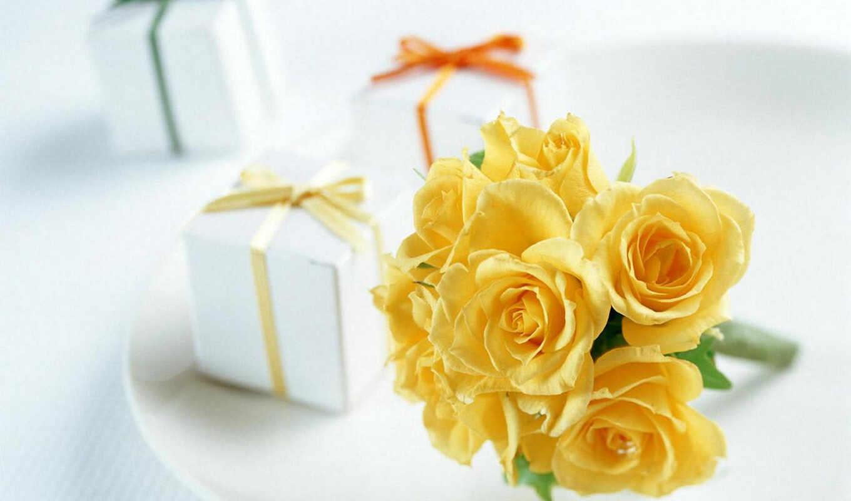 flowers, gifts, flower, nature, roses, yellow, teşekkür, love, desktop,