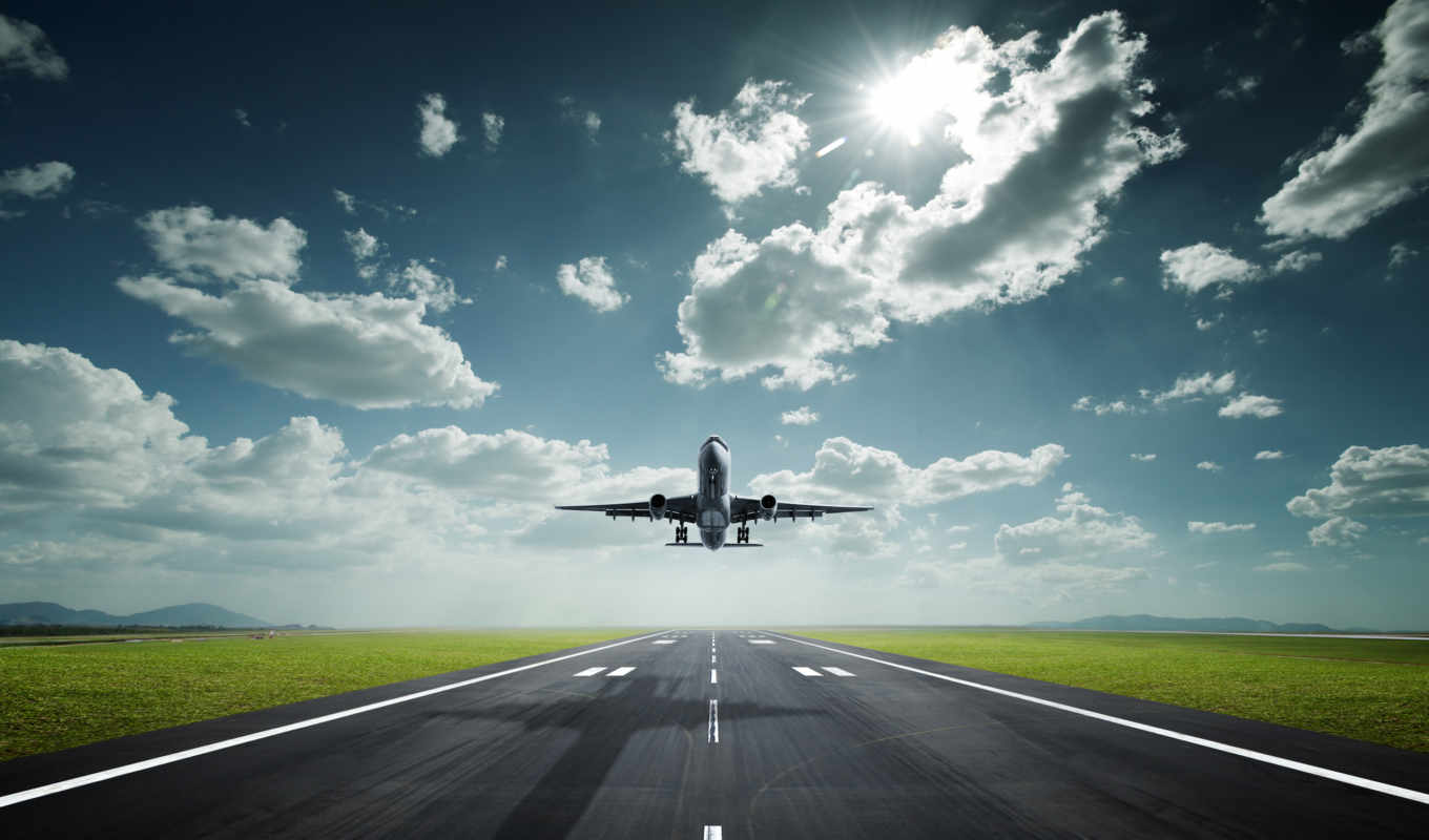 aircraft, takeoff, skyscapes, airport, sonnenlicht, natur, trancefan, flugzeuge,