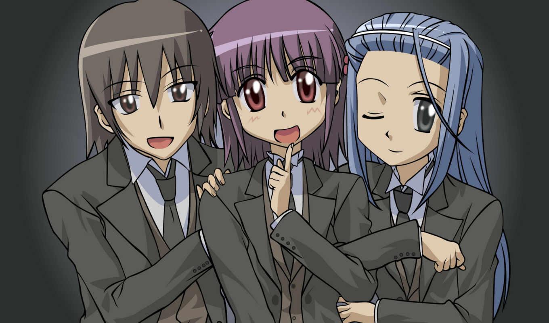 школьники, tie, anime, asami, дек,