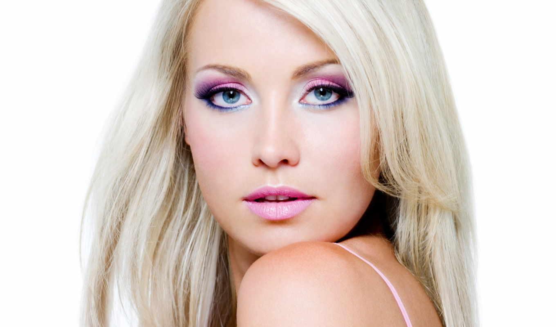 макияж, blonde, лицо, блондинок, макияжа, white,