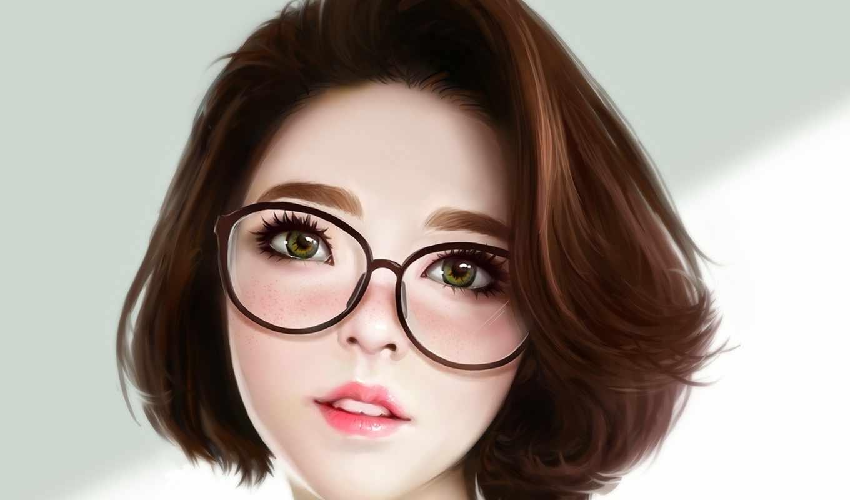 anime, волосы, short, девушка, pinterest, очки, artstation, об, art, deviantart,