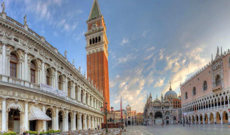 venice, italy, площадь, венеции, италии,