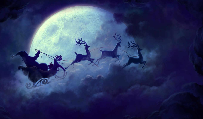 navidad, luna, llena, дек, por, primera, vez, con, есте,
