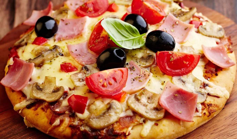 пицца, рецепт, сыром, пиццы, колбасой,