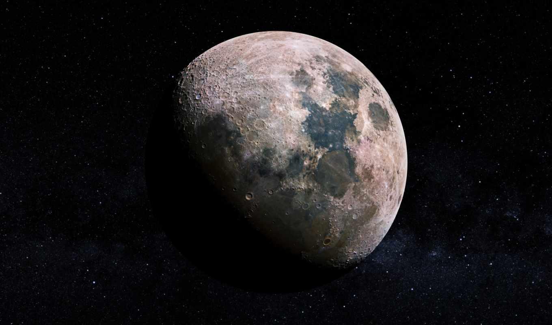 луна, cosmos, звезды, космос, world, craters,