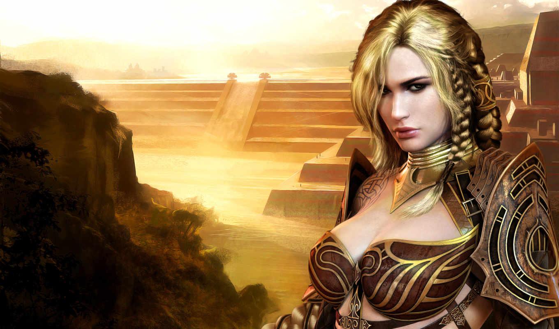 fantasy, wars, guild, girl, frauen, eye, nightfall, north, игра, hintergrundbilder, digital, illustrator, schöne,