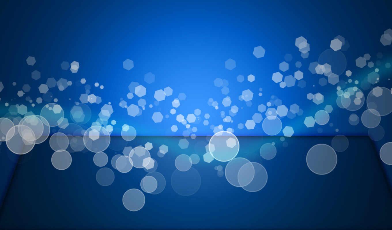 эффект, боке, голубой, волна,