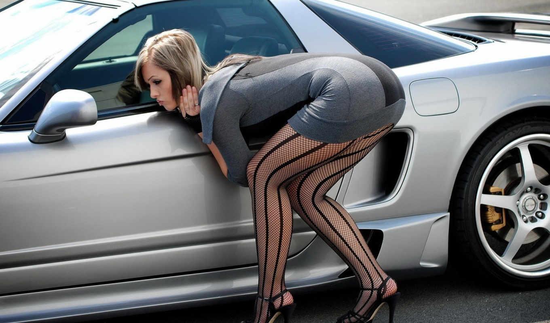 девушка, ноги, devushki, авто, машине, машина, stockings,