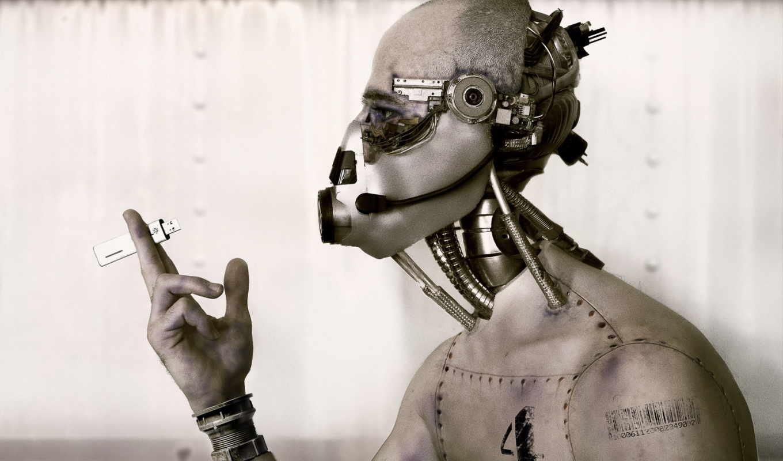 киборг, робот, обои, фантастика, hi, tech, роботы,