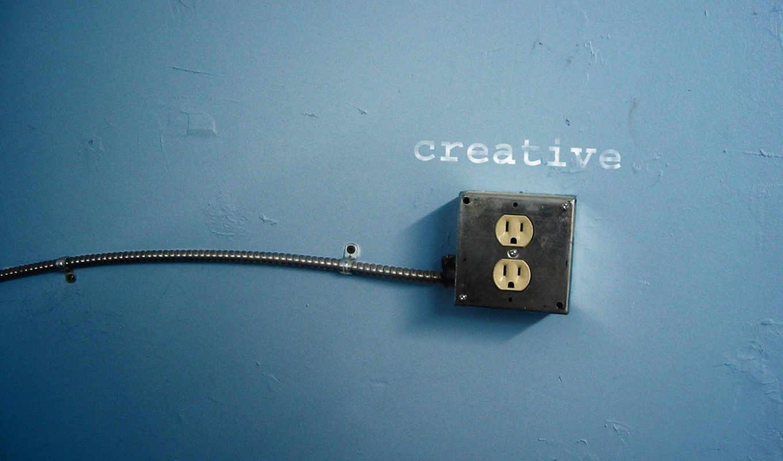розетка, креативная, стена, креатив, надпись, outlet, картинка, провод, разное,